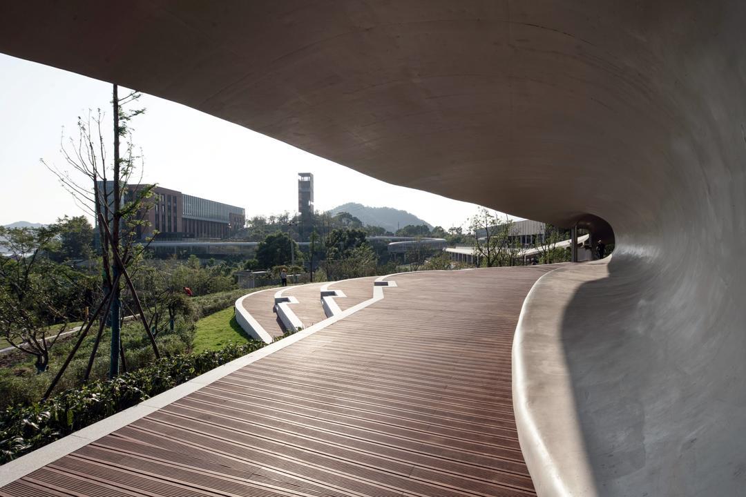 连廊观景台  | 摄影:尹明