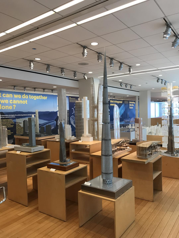 SOM超高层模型展示区