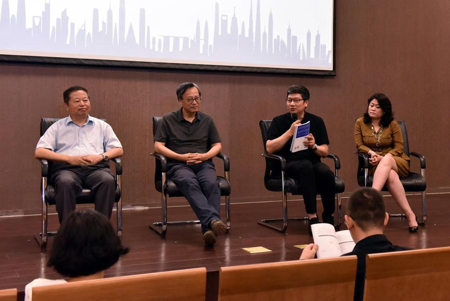 研讨嘉宾:曹嘉明(左上)、张俊杰(右上)、章明(左下)、李晓梅(右下)