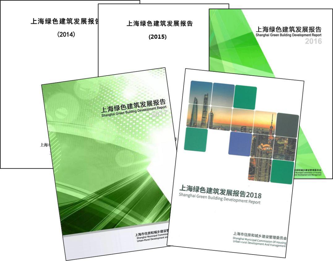 历年《上海绿色建筑发展报告》