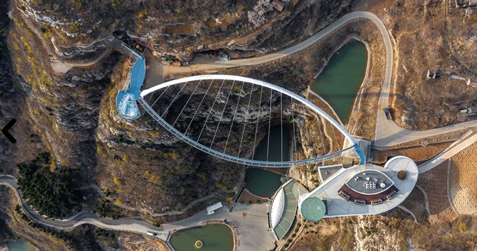 淄博潭溪山步行桥