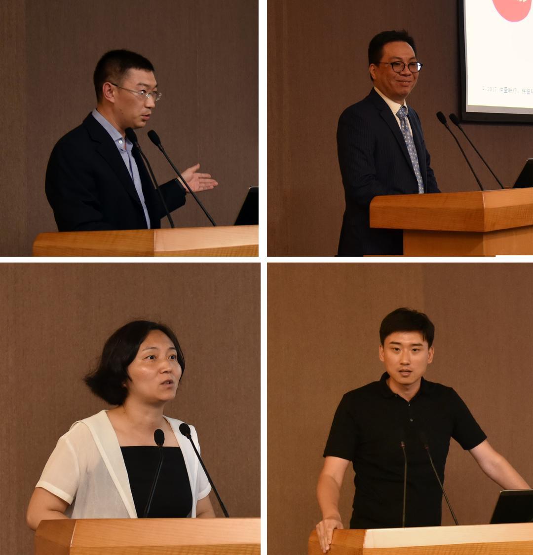 演讲人:李兆凡(左上)、张启威(右上)、赵颖(左下)、吴宏磊(右下)
